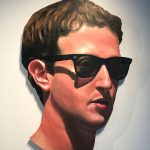 Mark Zuckerberg painting