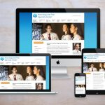 The home page for the Neurology and Pain Specialty Center website, shown on multiple sizes of screens and devices