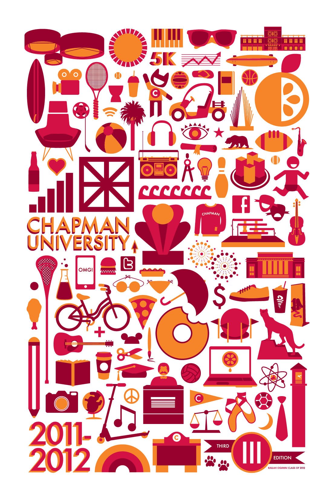 Chapman University Graphic Design Portfolio: Chapman University Poster Third Edition - Vim 6 Vigor :: Strategic rh:vandvcreative.com,Design